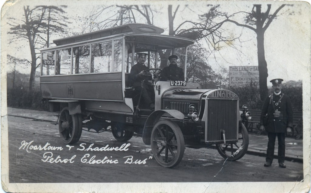Moortown and Shadwell petrol electric bus